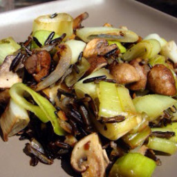 Wild Rice with Leeks And Mushrooms