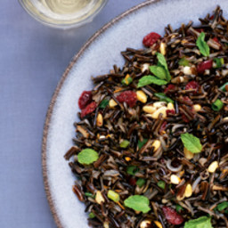 Wild Rice Salad with Cranberries and Mint