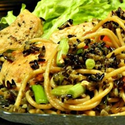 Wild Rice Spaghetti Chicken