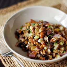 Winter Wheat Berry Salad with Figs and Red Onion