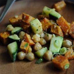 Yam, Zucchini, and Chickpea Salad