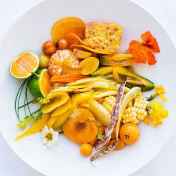Yellow Salad with Citrus-Date Vinaigrette