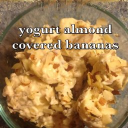 Dessert: Yoghurt Almond Covered Bananas