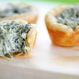 Zestuous Spinach Cups