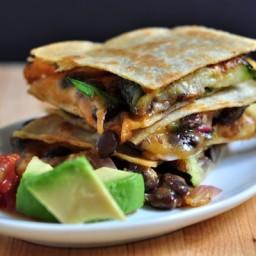 Zucchini and Black Bean Quesadillas