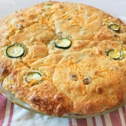 Zucchini Cobbler With Corn Biscuit Topping