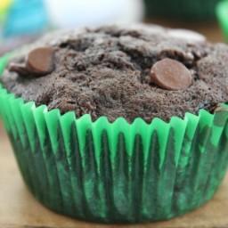 Zucchini Double Chocolate Muffins