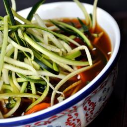 Zucchini Noodle Miso Ramen {vegan, gluten free}