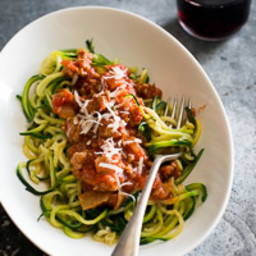 Zucchini Noodles with Turkey Marinara Recipe