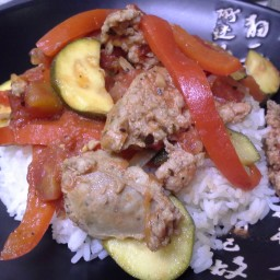 Zucchini Sausage & Peppers