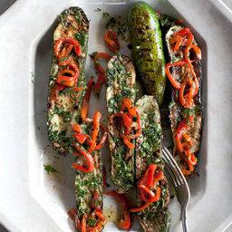 Zucchini Steaks with Herb Garden Chimichurri