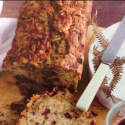 Zucchini, Walnut and Cranberry Bread