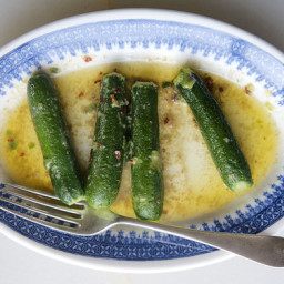 Zucchini with Spicy Anchovy Butter