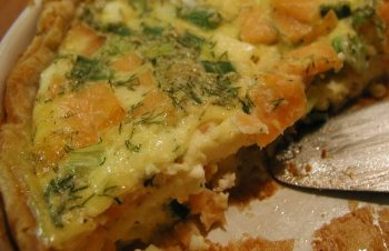 ... Main Dish Quiche and Savory Pies Smoked Salmon and Goat Cheese Quiche