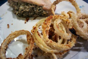 how to make crunchy onion rings