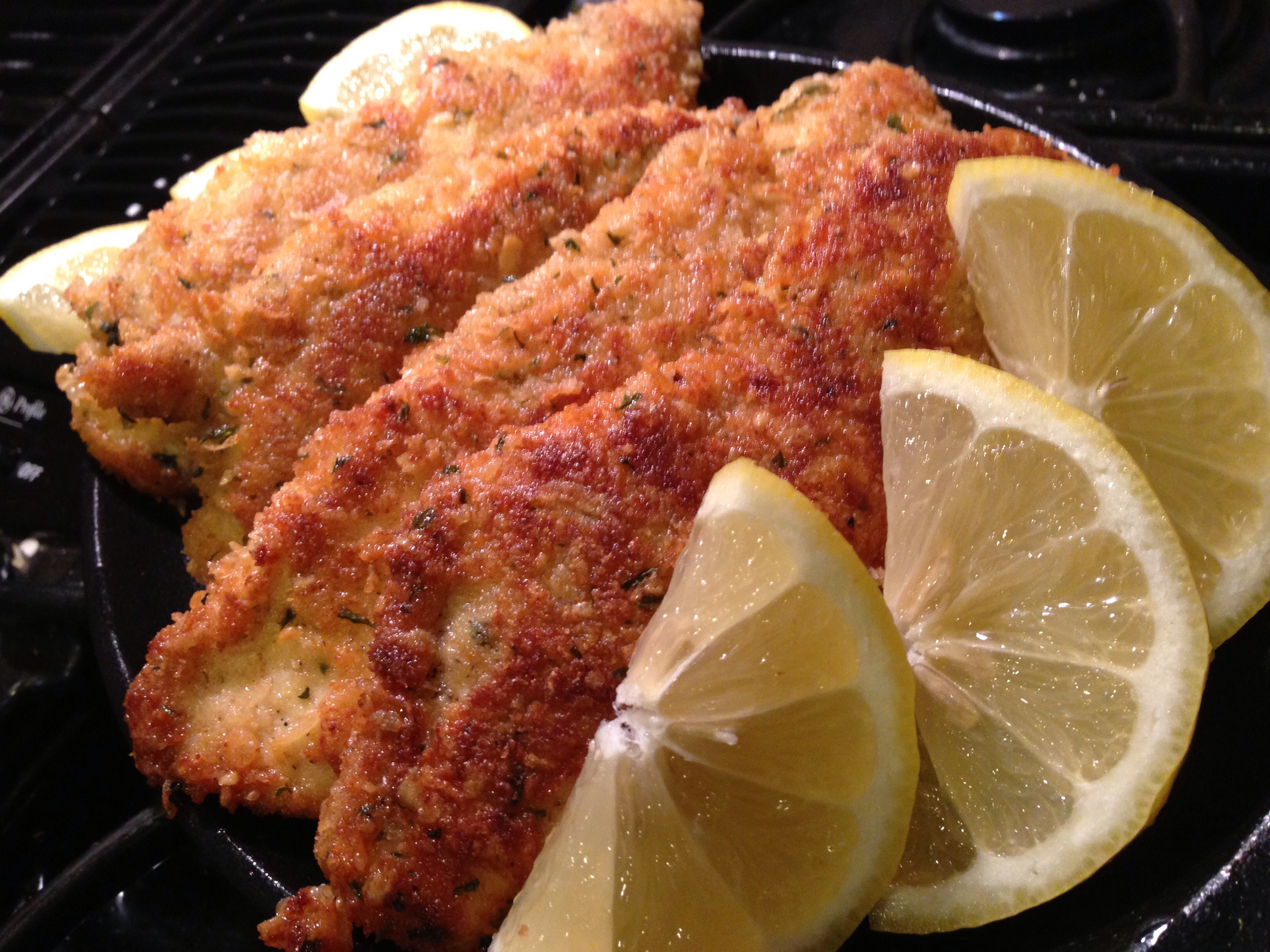 Egyptian Chicken Panne Breaded Fried Chicken Breasts