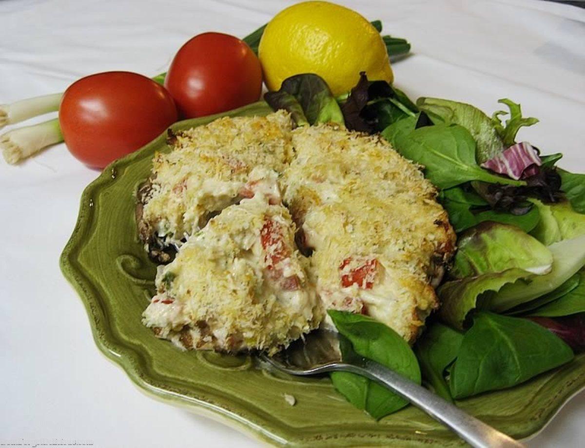 spicy crab portobellos