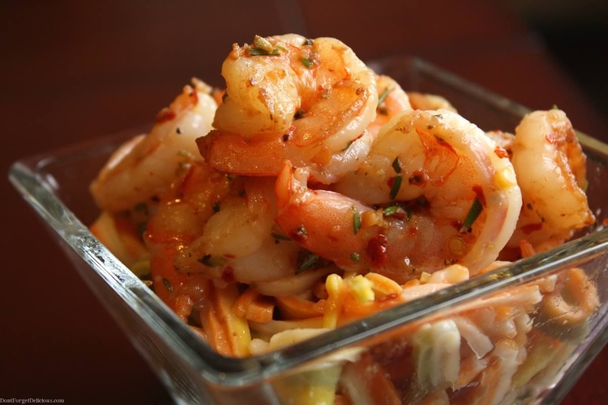... Dish Fish and Shellfish Shrimp Spicy Garlic Rosemary Shrimp & Pasta
