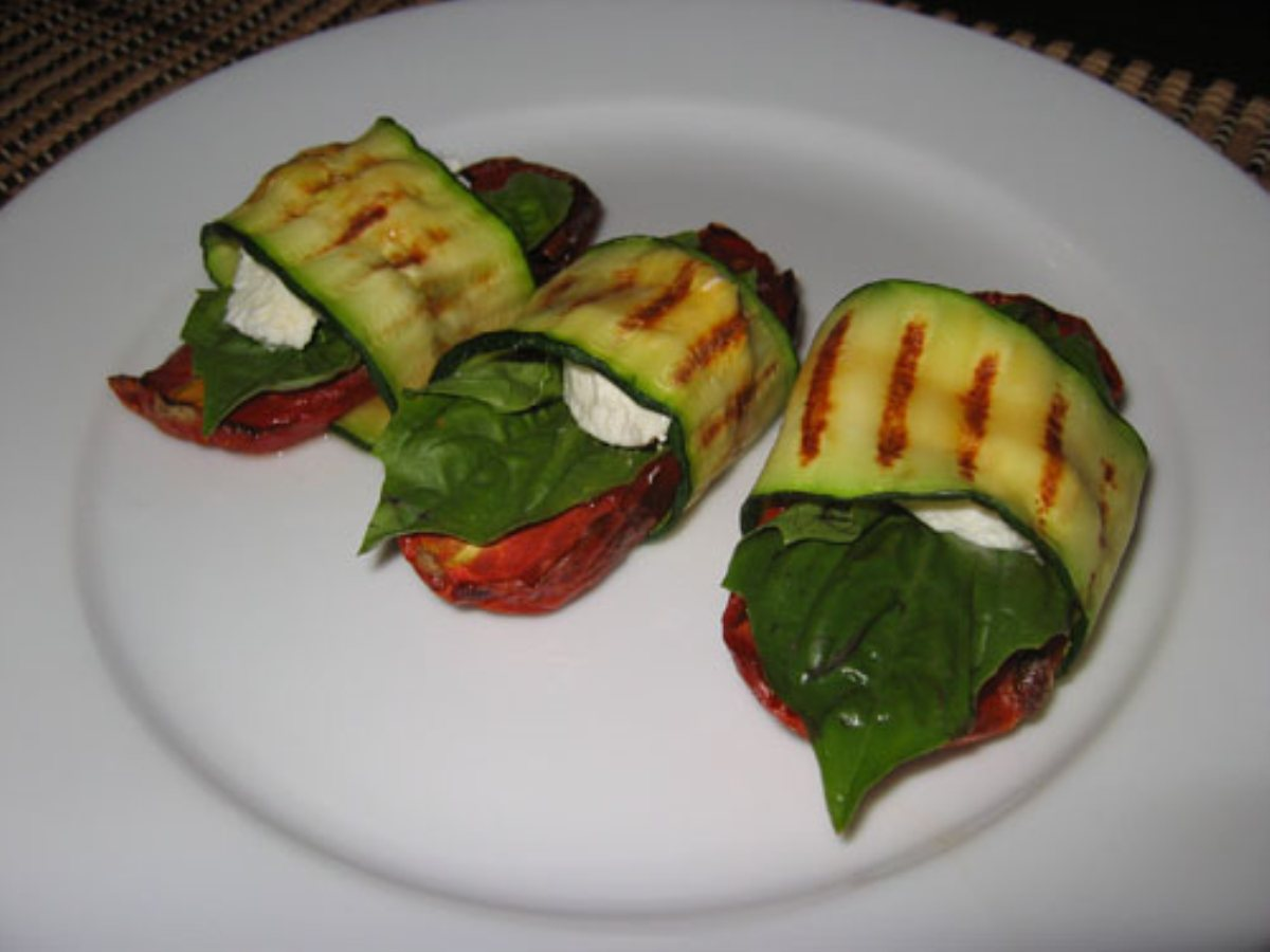 ... Zucchini Wraps With Tomatoes And Goats Cheese Recipe — Dishmaps