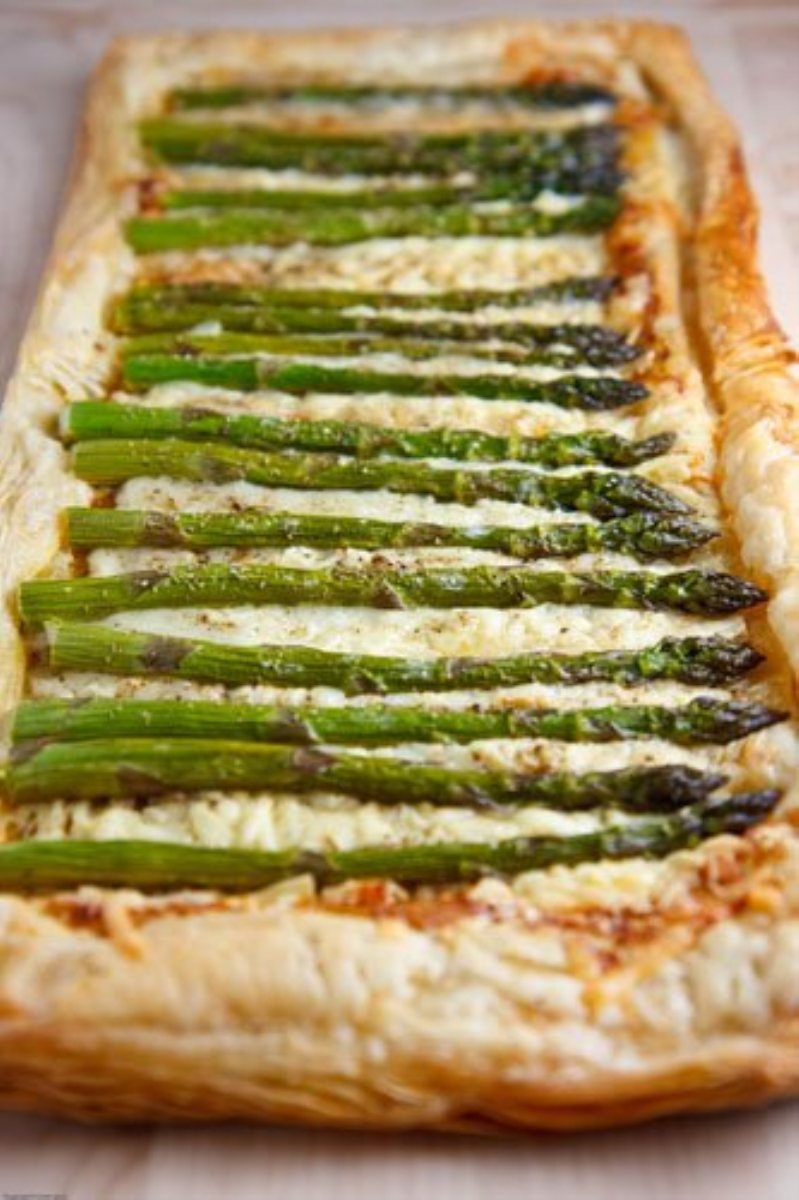Asparagus Gruyere Tart Recipe — Dishmaps