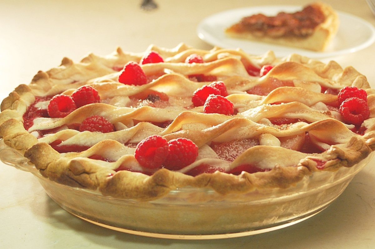 Recipes Course Desserts Pies Raspberry, Rhubarb And Pear Pies