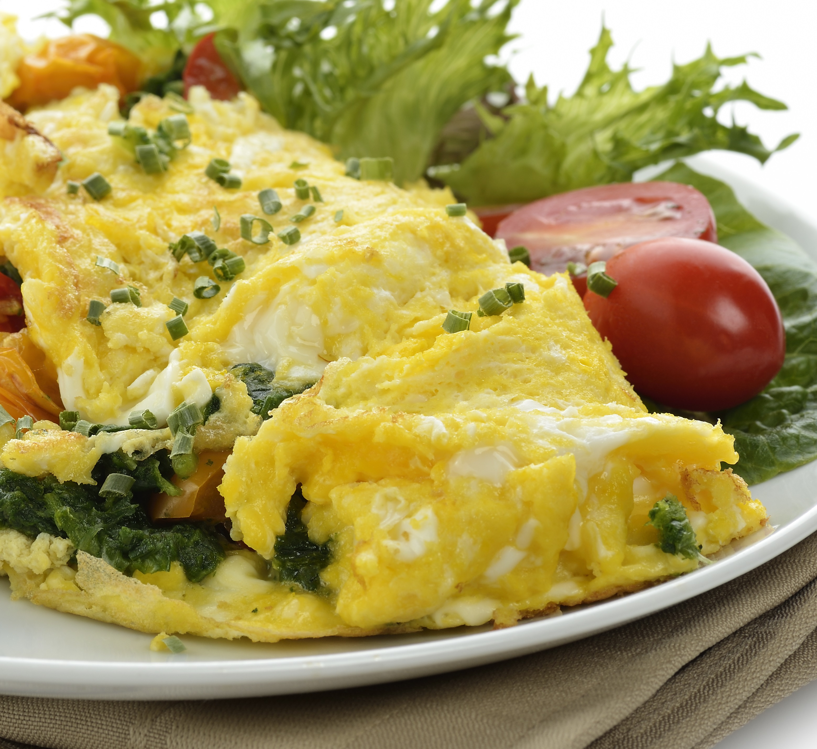 Greek Potato Spinach And Feta Cheese Omelet - BigOven