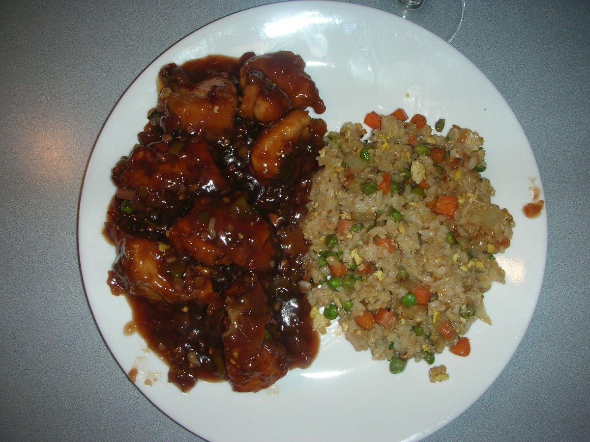 General Tso's Chicken in wonderful sauce