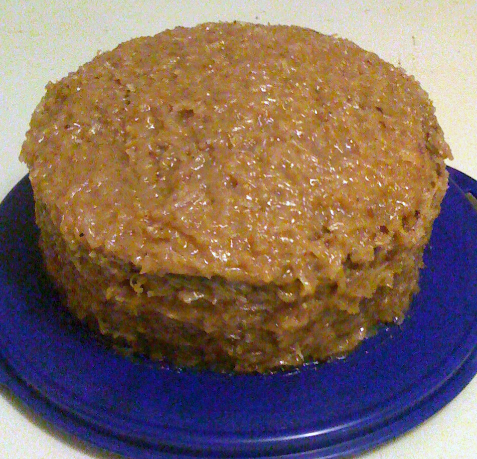 German Chocolate Cake Coconut Pecan