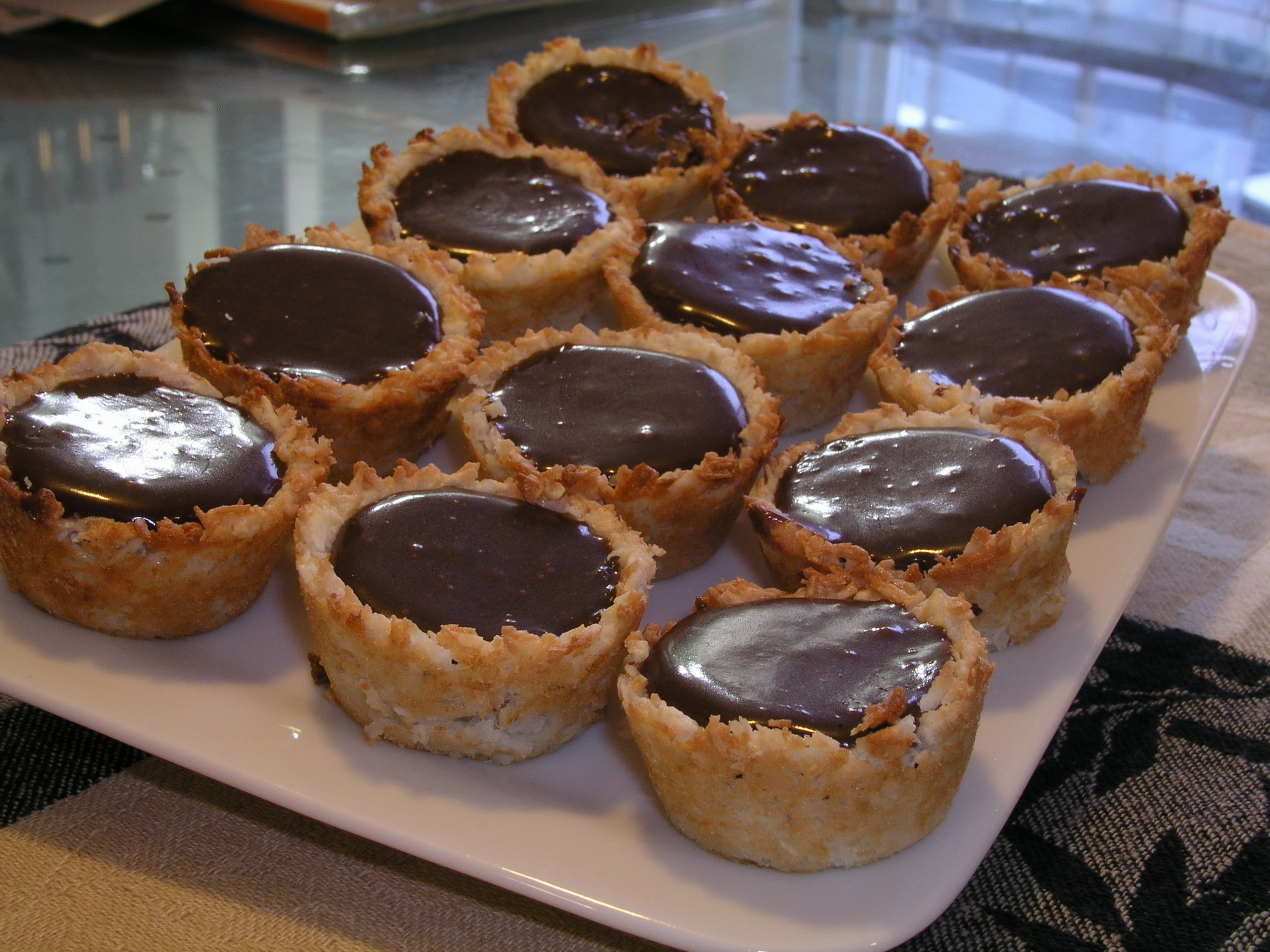 Mini Coconut Chocolate Tarts