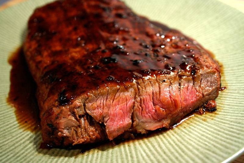 ... Course Main Dish Grill and BBQ Bourbon and Brown Sugar Flank Steak