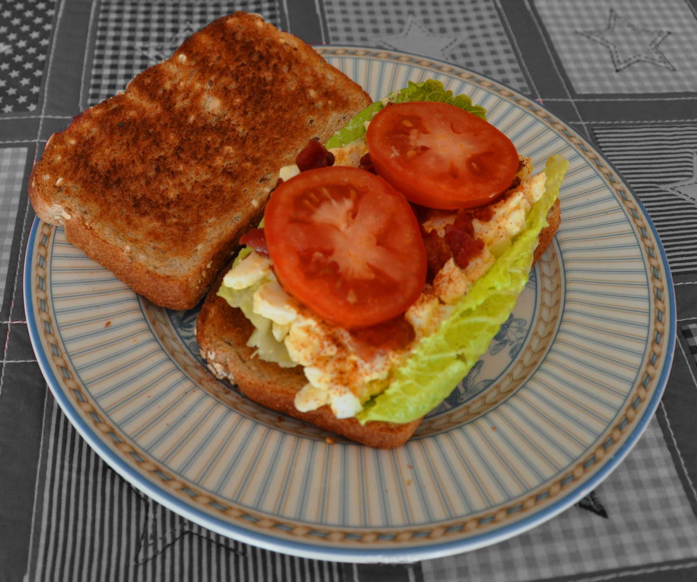 Egg Salad, Bacon, Lettuce and Tomato Sandwiches - BigOven