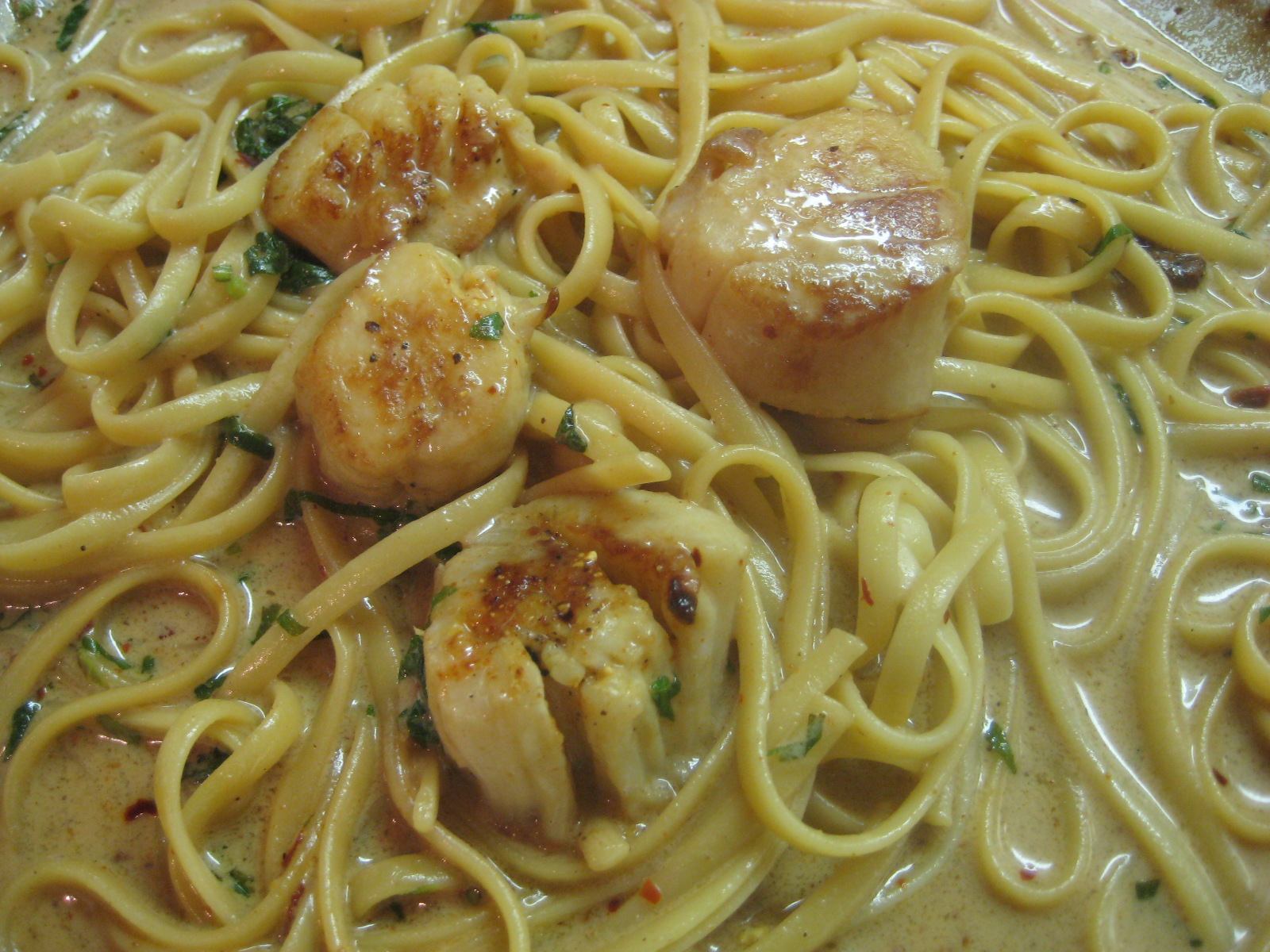 how to cook large scallops