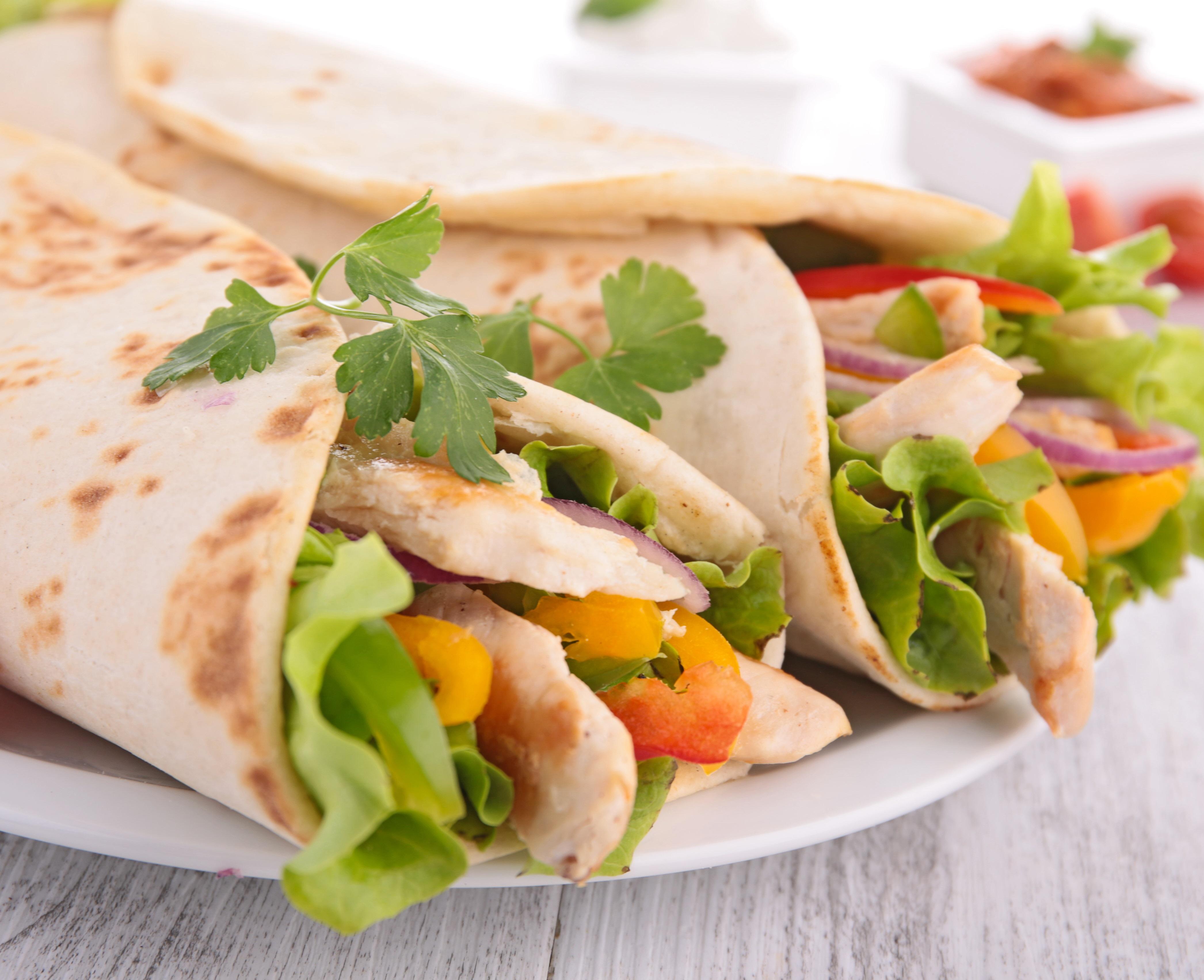 Curry Chicken Wraps with Nectarine-Chutney - BigOven