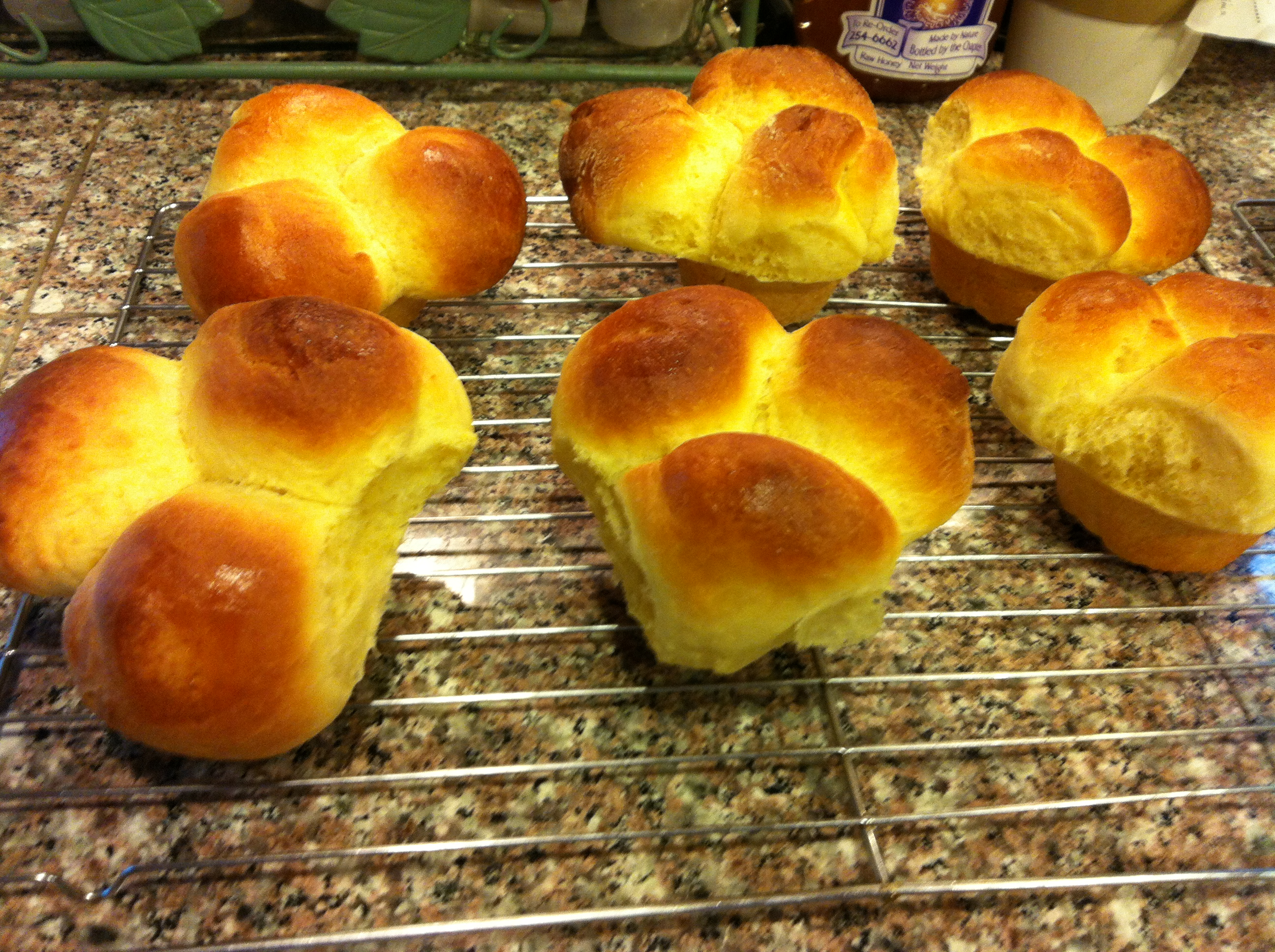 Bubble-Top Brioches Recipe — Dishmaps