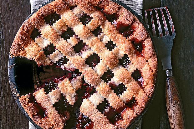 Recipes Course Desserts Pies Rhubarb and lattice pie
