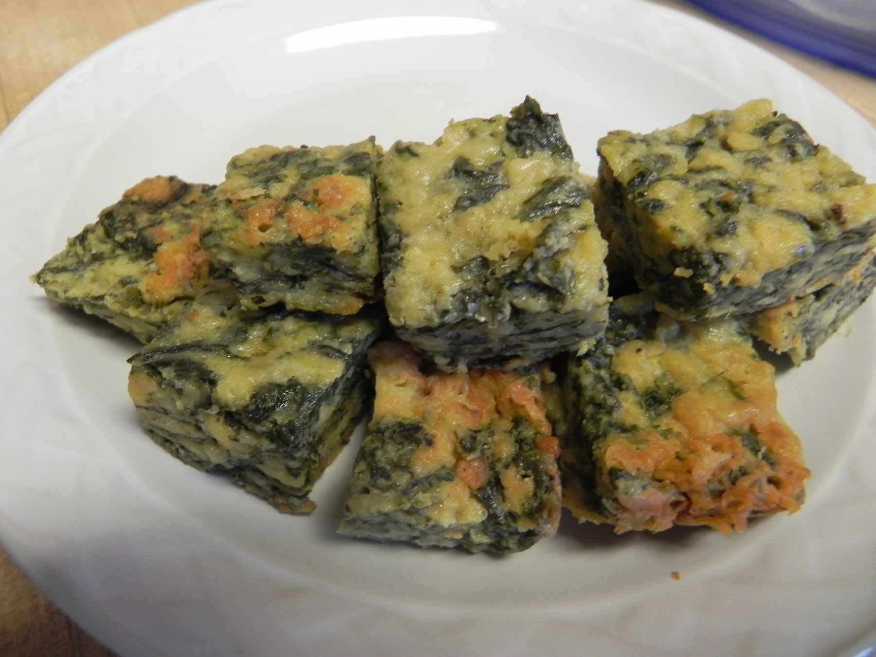 Cheese Spinach Squares