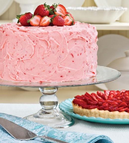Strawberry Lemonade Layer Cake Recipe