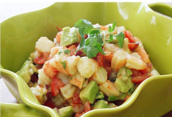 Zesty Lime Shrimp and Avocado Salad - BigOven