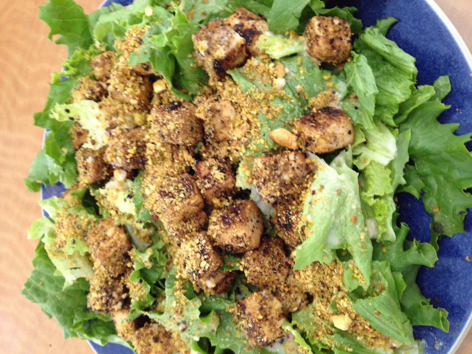 Pistachio Crusted Tofu Salad Recipe — Dishmaps