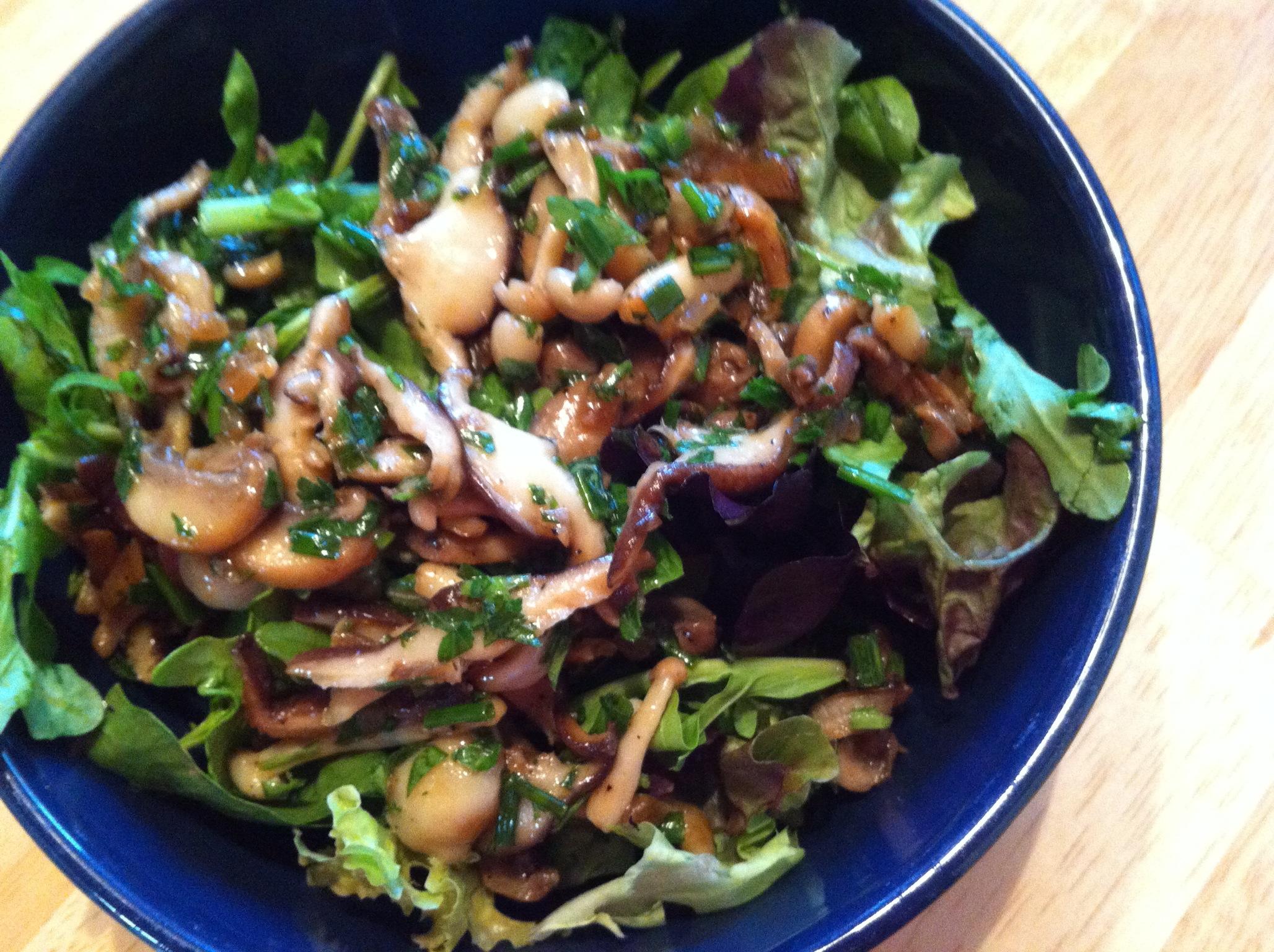 Wild Mushroom Salad with Balsamic Vinaigrette - BigOven