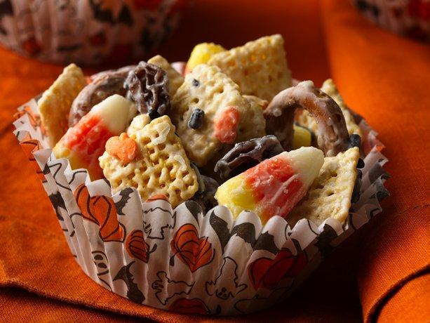 White Chocolate Chex Mix Candy Corn