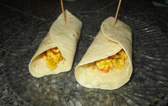 Scrambled Eggs Burrito