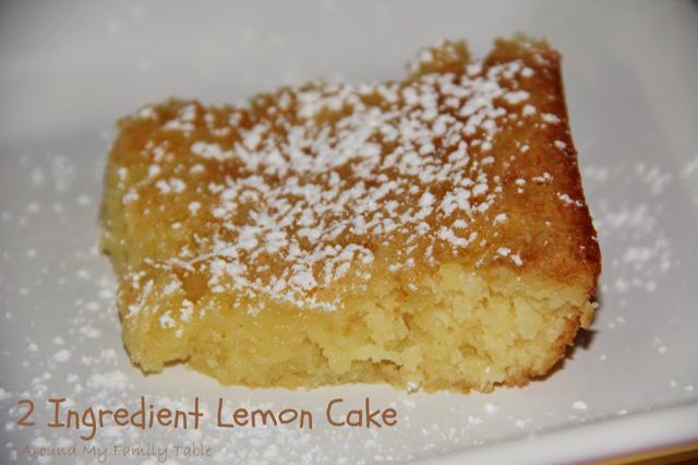 Lemon Cake Recipes Using Box Mix: 2 Ingredient Lemon Cake