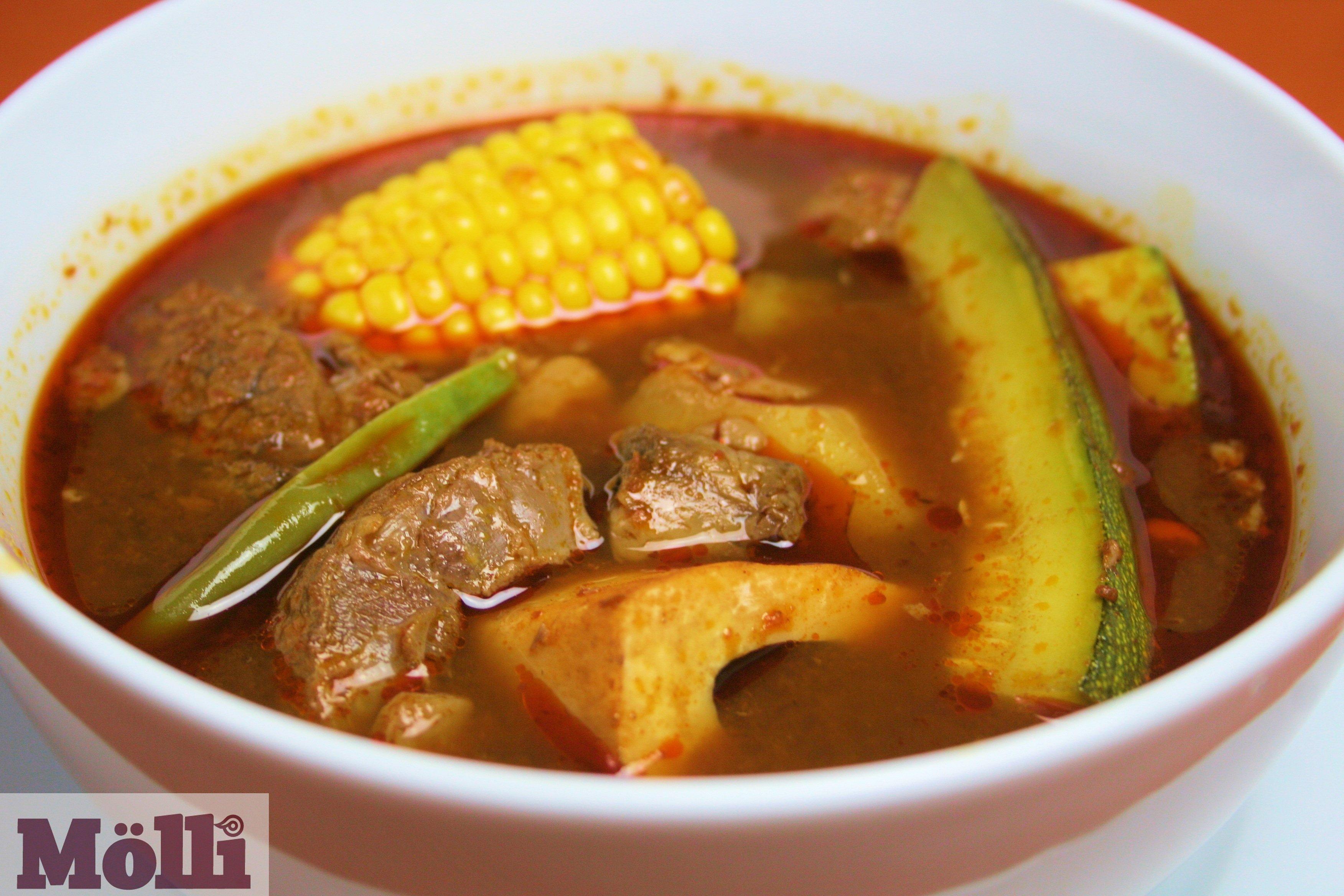 Hearty Beef Soup Mole De Olla