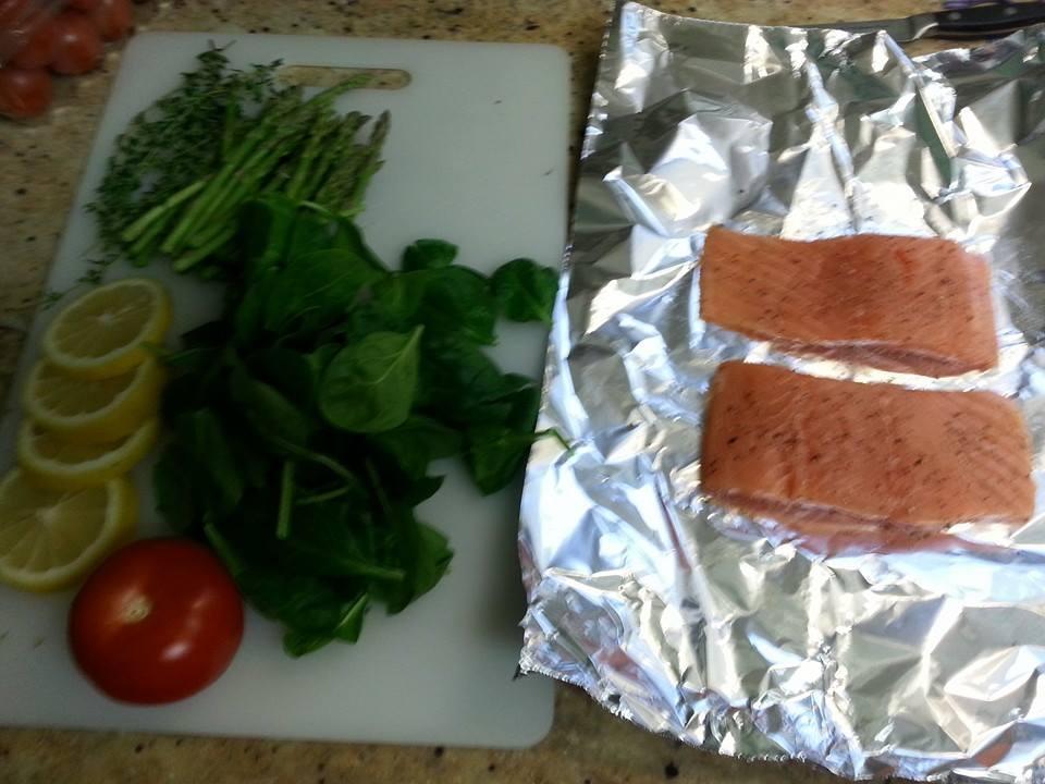 Tin foil fish bake for Tin foil fish