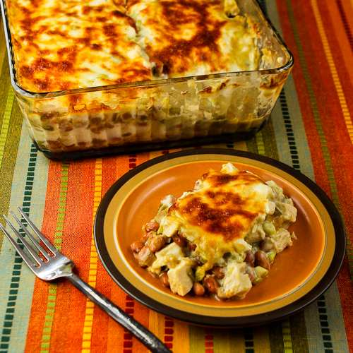 Layered Mexican Casserole Recipe with Chicken, Green ...