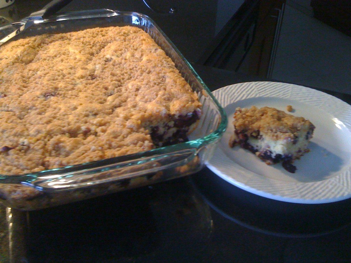 Same cake but richer streusel topping (flour, sugar ...
