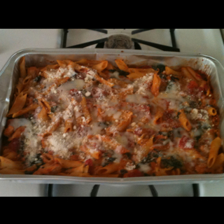 how to make 3 cheese chicken penne