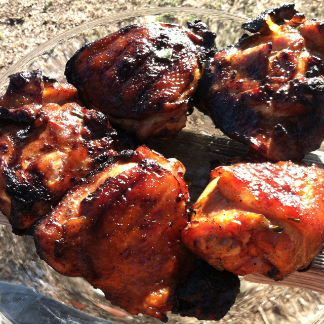 how to cook chicken thighs on the grill