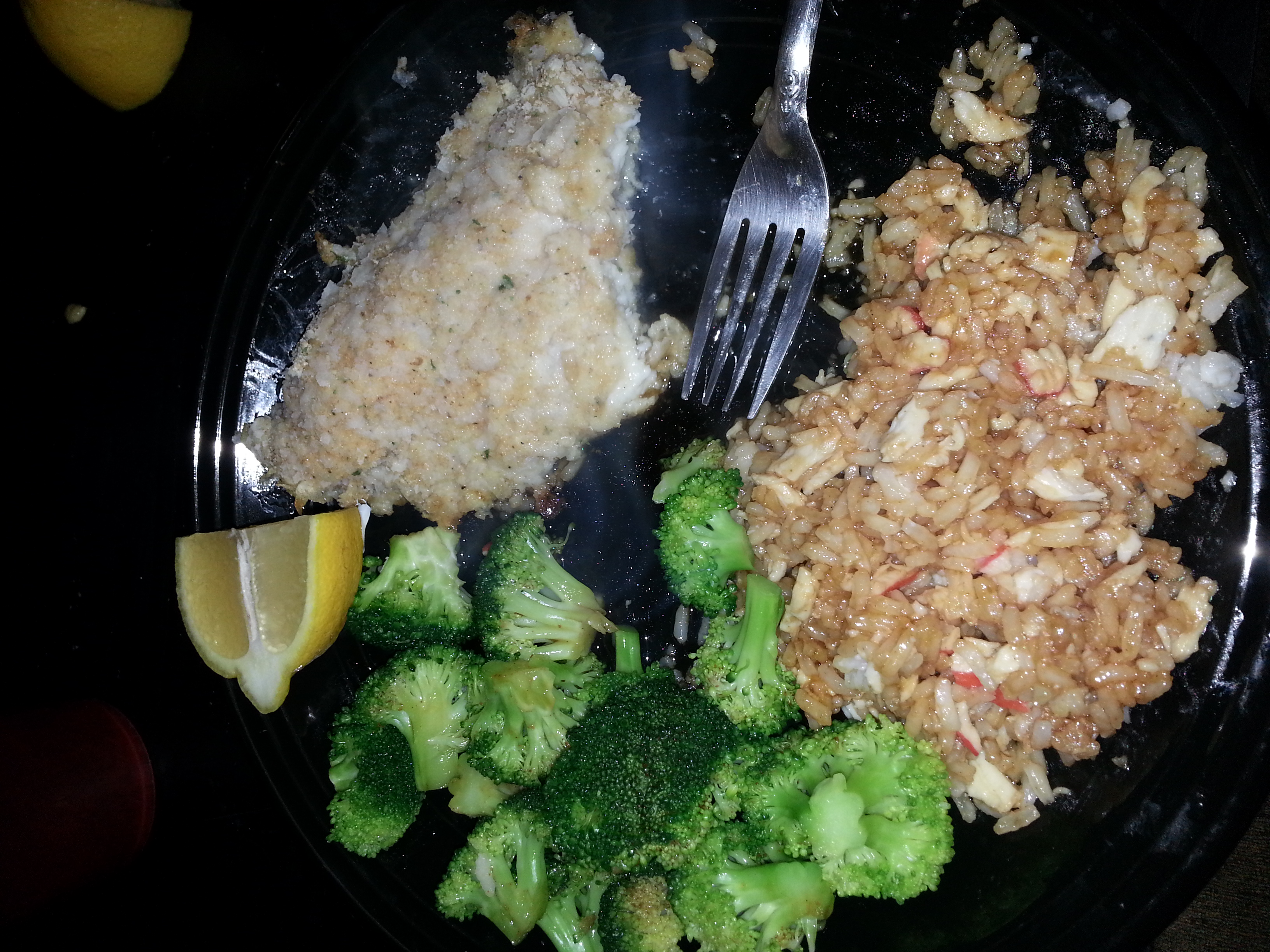 Low fat potato crusted fish for Potato crusted fish